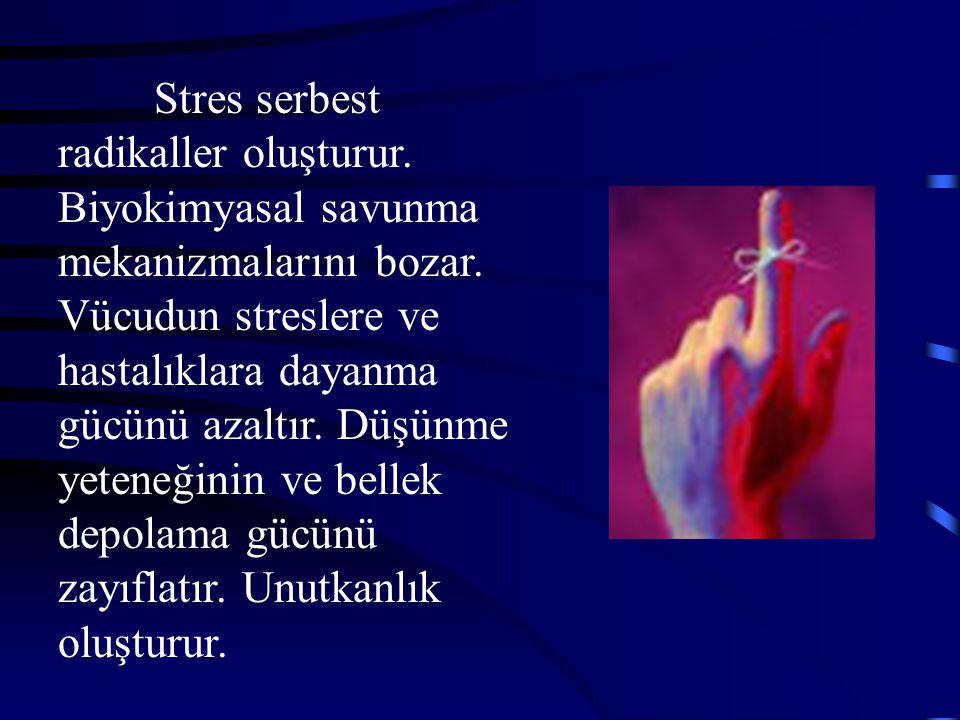 Stres serbest radikaller oluşturur