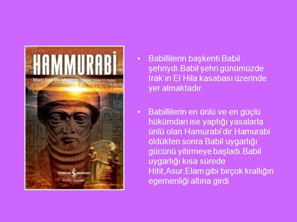 Babillilerin başkenti Babil şehriydi
