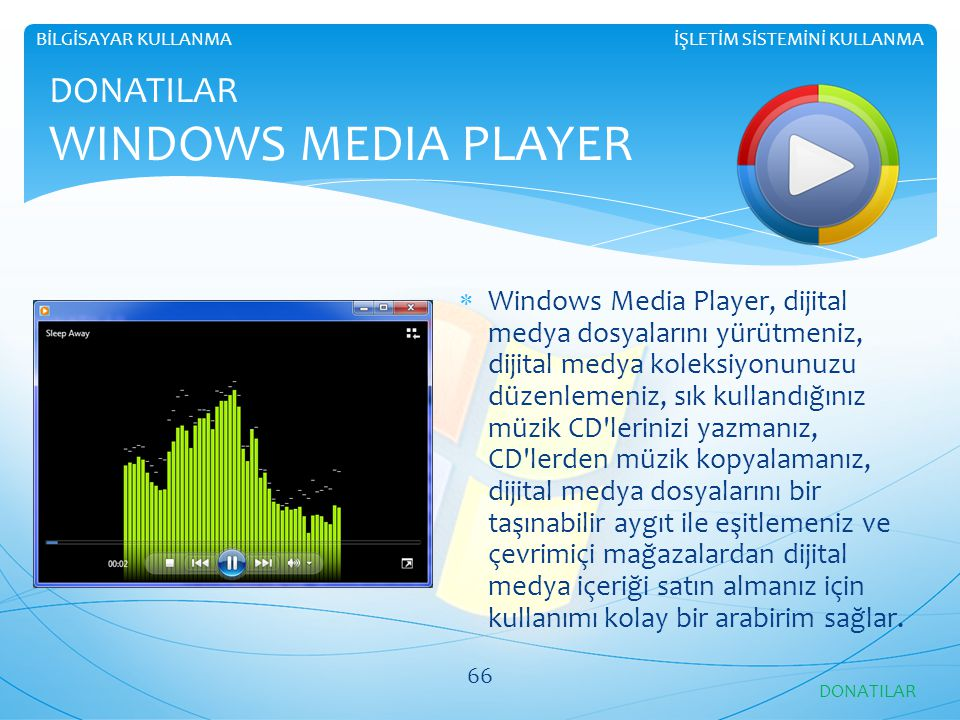 DONATILAR WINDOWS MEDIA PLAYER