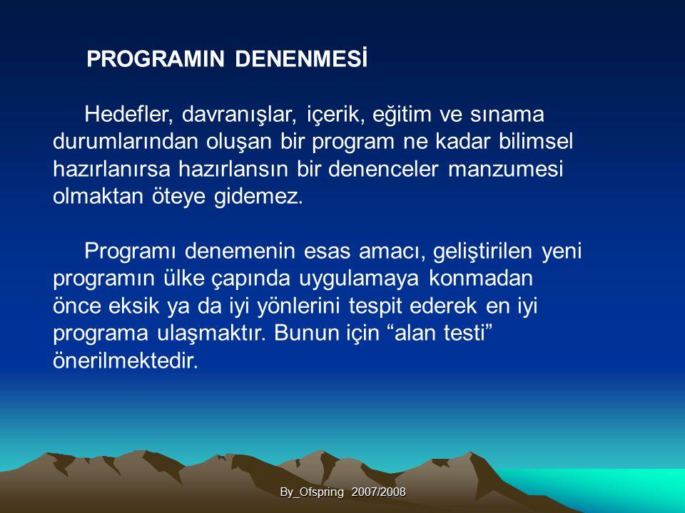 PROGRAMIN DENENMESİ
