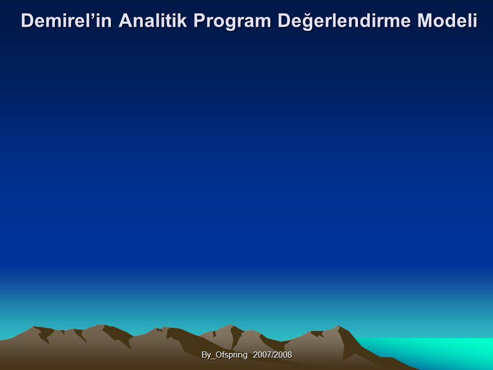 Demirel'in Analitik Program Değerlendirme Modeli