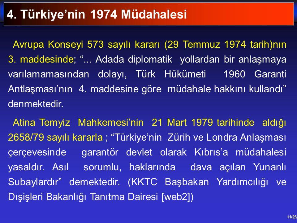 4. Türkiye'nin 1974 Müdahalesi