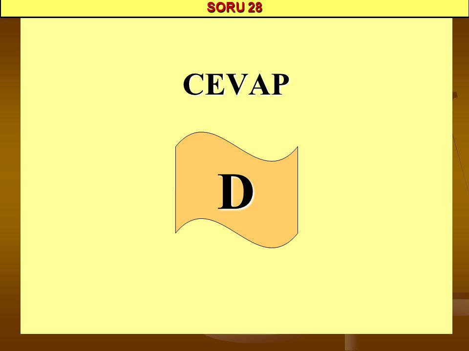 SORU 28 CEVAP D
