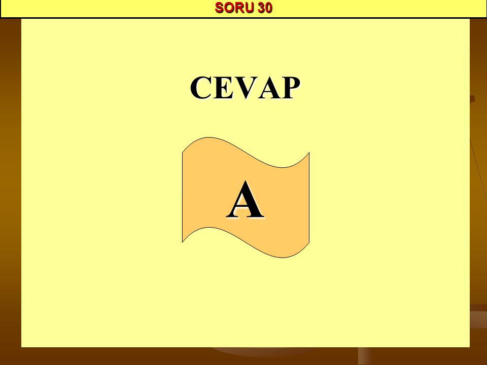 SORU 30 CEVAP A