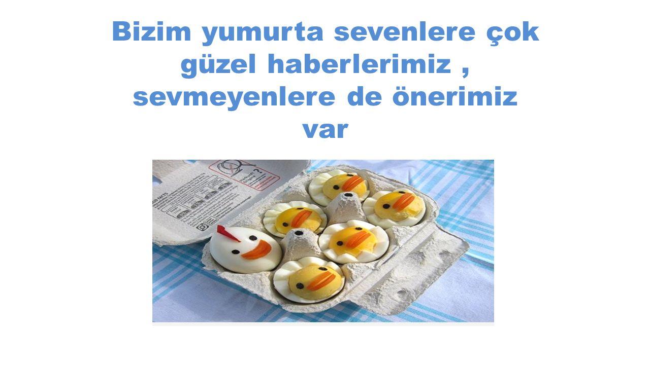 Bizim yumurta sevenlere çok güzel haberlerimiz , sevmeyenlere de önerimiz var