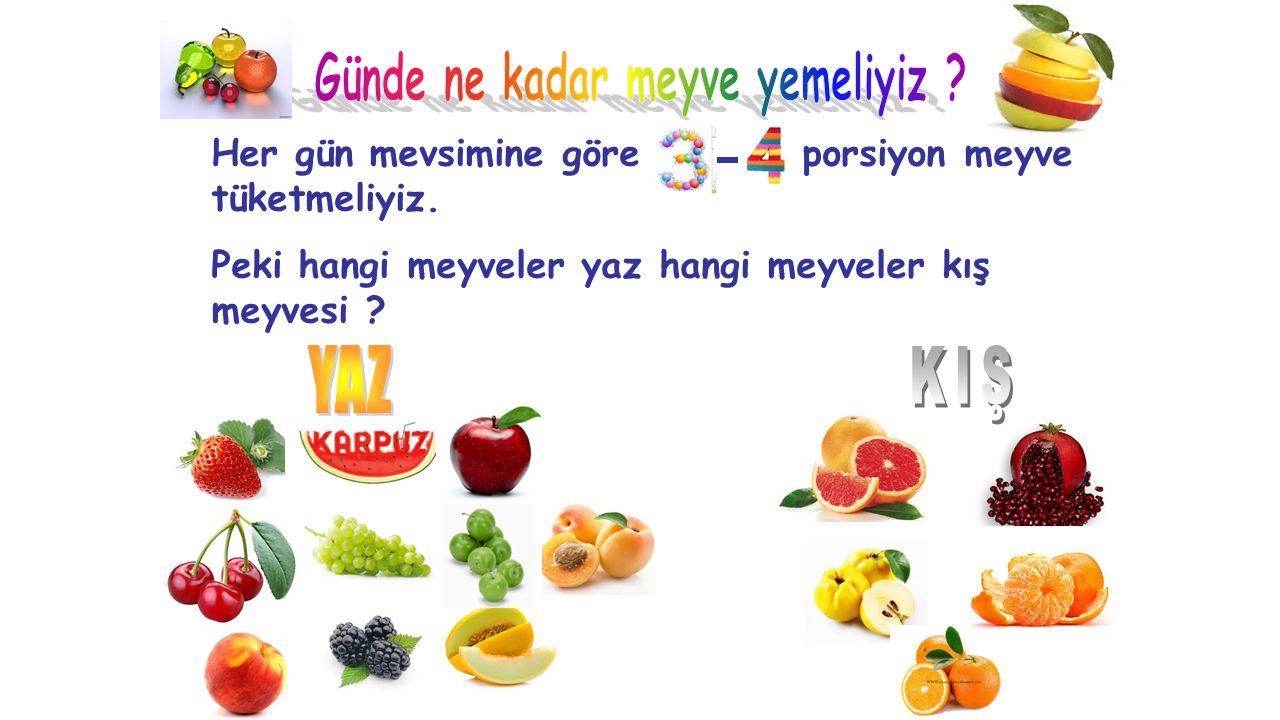 Günde ne kadar meyve yemeliyiz