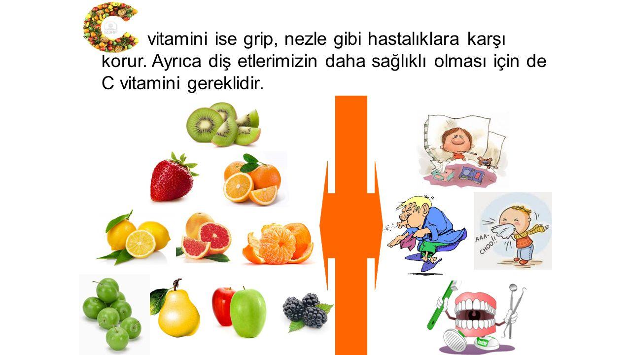 vitamini ise grip, nezle gibi hastalıklara karşı korur