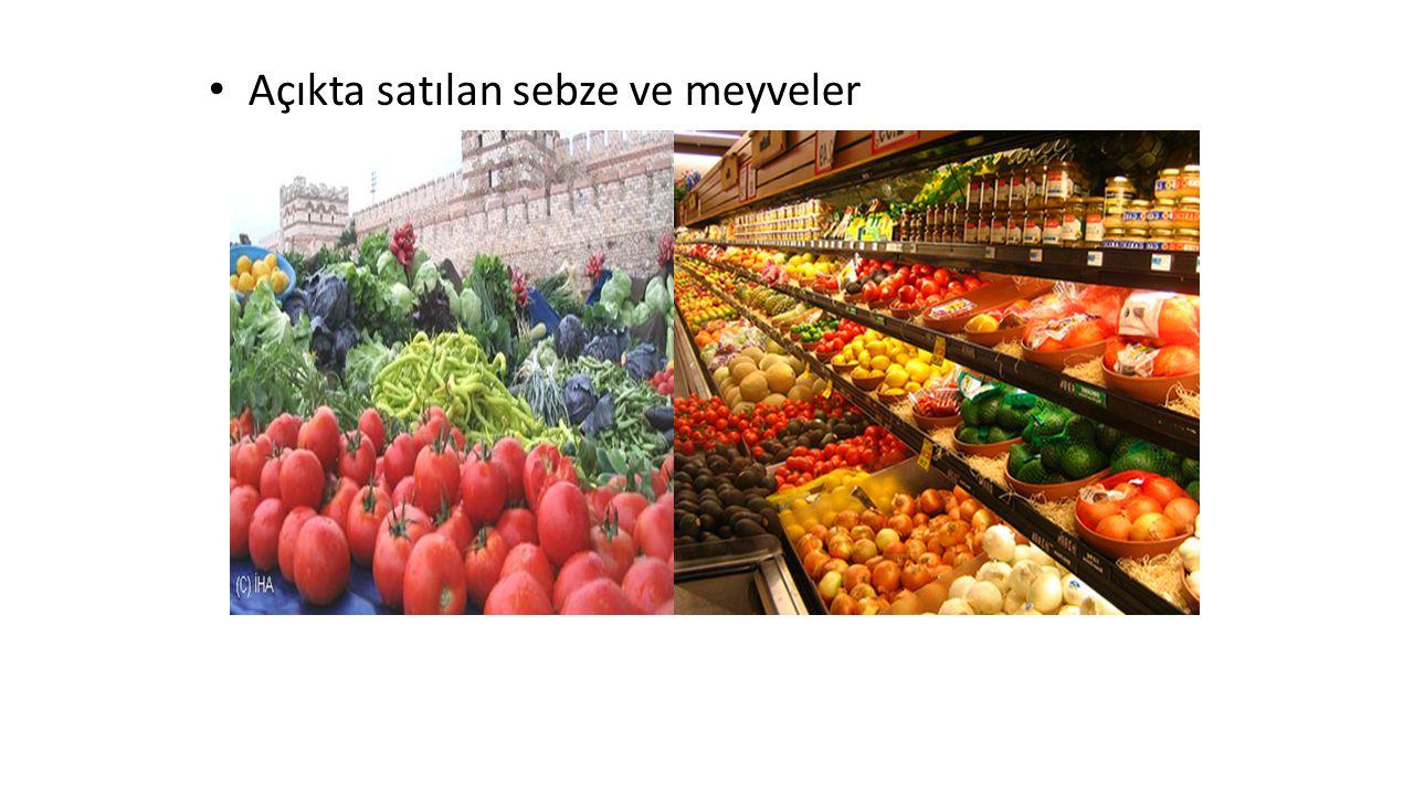 Açıkta satılan sebze ve meyveler
