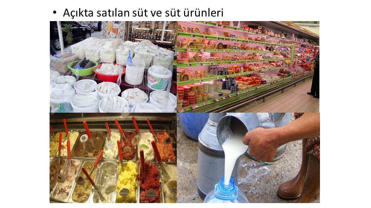 Açıkta satılan süt ve süt ürünleri