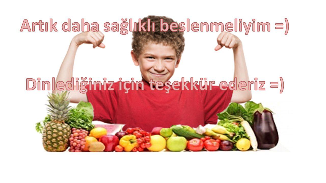 Artık daha sağlıklı beslenmeliyim =)