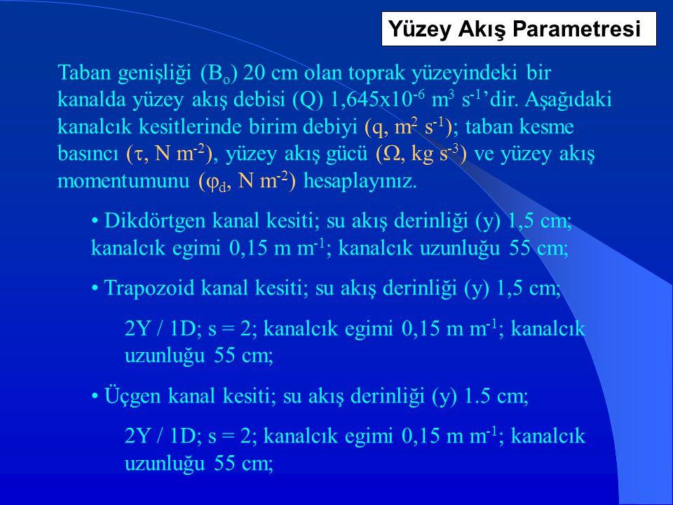 Yüzey Akış Parametresi