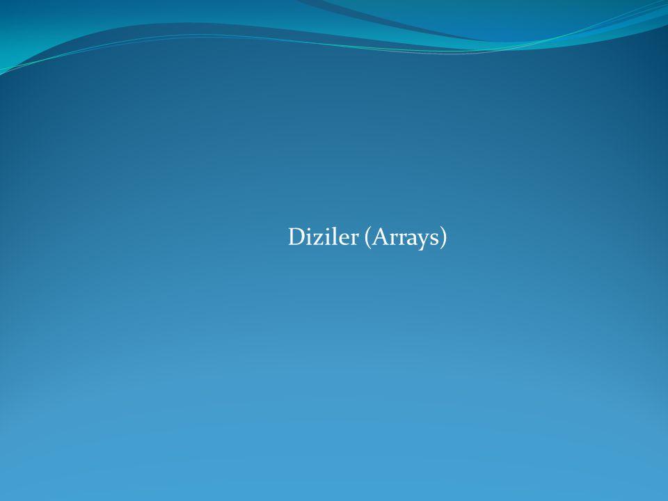 Diziler (Arrays)