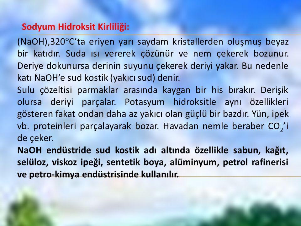 Sodyum Hidroksit Kirliliği: