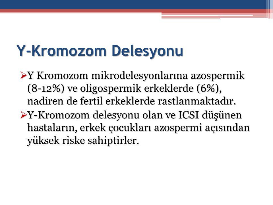 Y-Kromozom Delesyonu