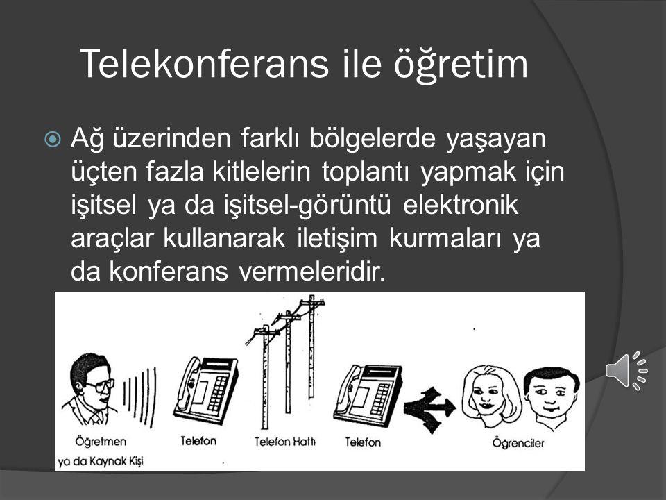 Telekonferans ile öğretim