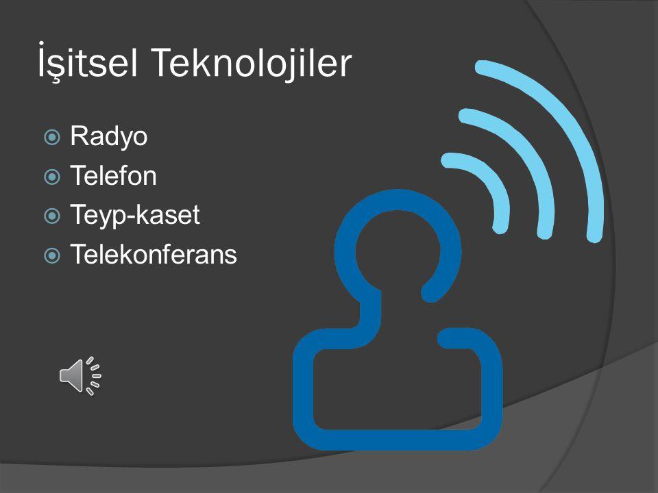 İşitsel Teknolojiler Radyo Telefon Teyp-kaset Telekonferans