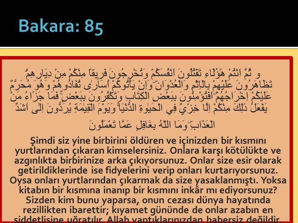 Bakara: 85