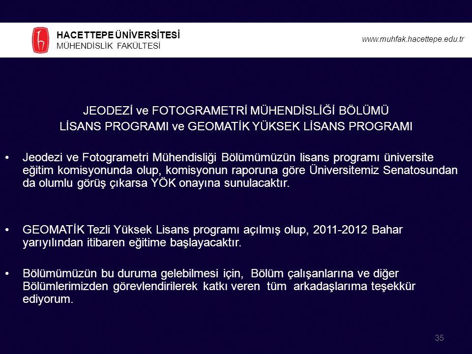 JEODEZİ ve FOTOGRAMETRİ MÜHENDİSLİĞİ BÖLÜMÜ