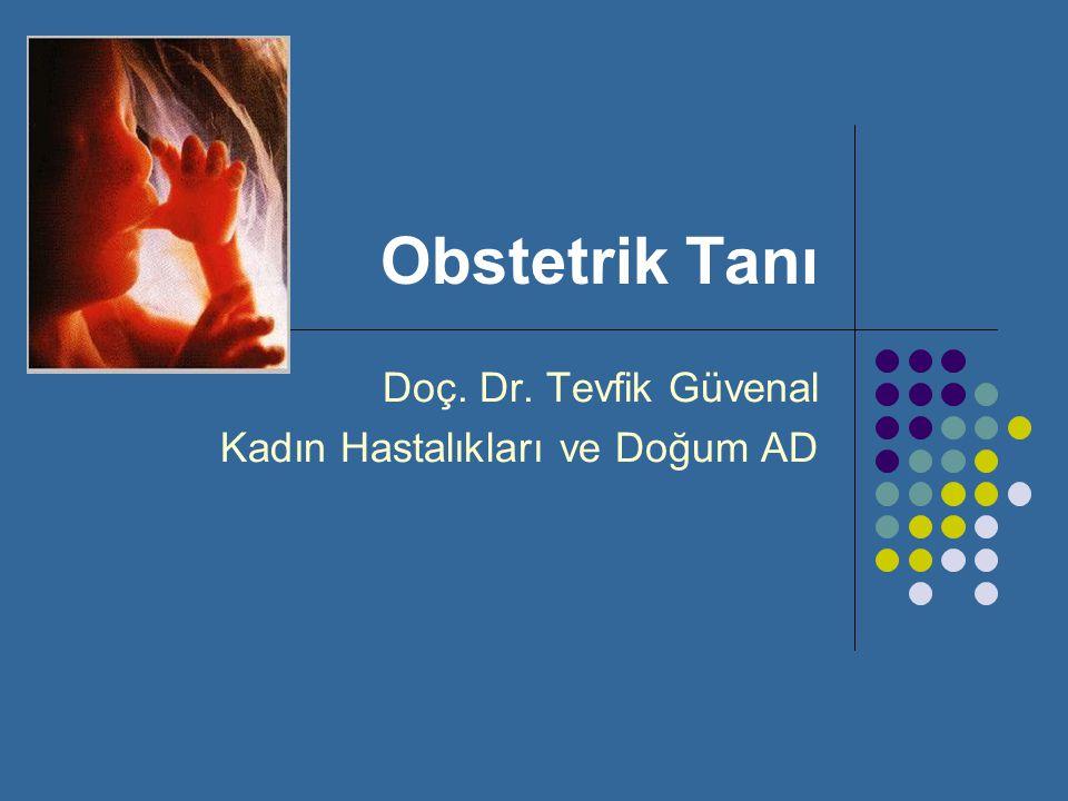 Doç. Dr. Tevfik Güvenal Kadın Hastalıkları ve Doğum AD