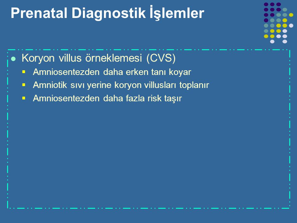 Prenatal Diagnostik İşlemler
