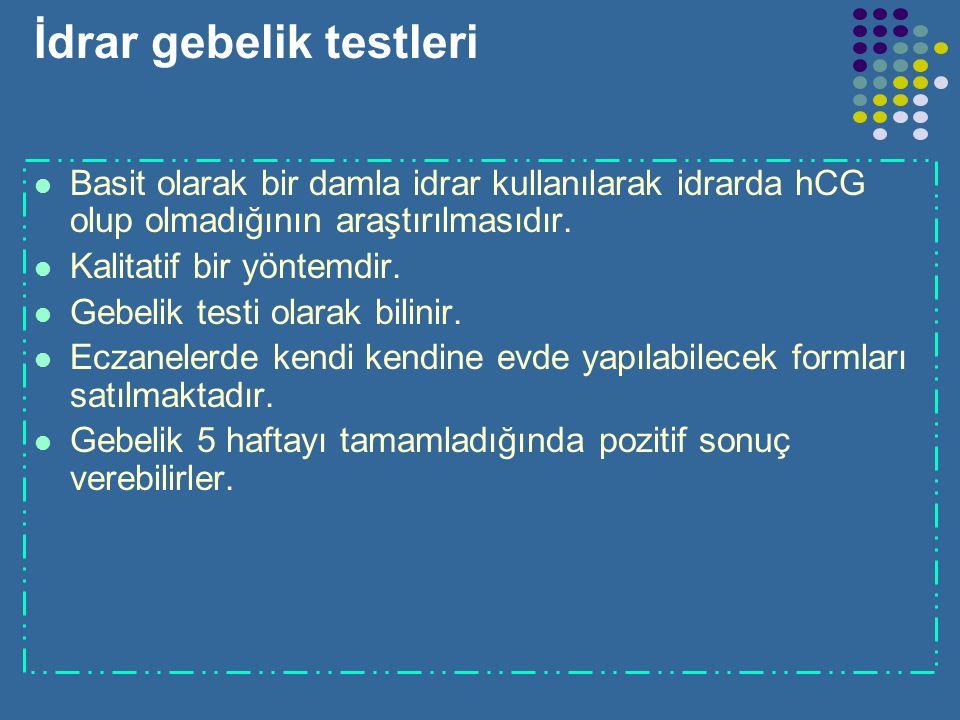 İdrar gebelik testleri