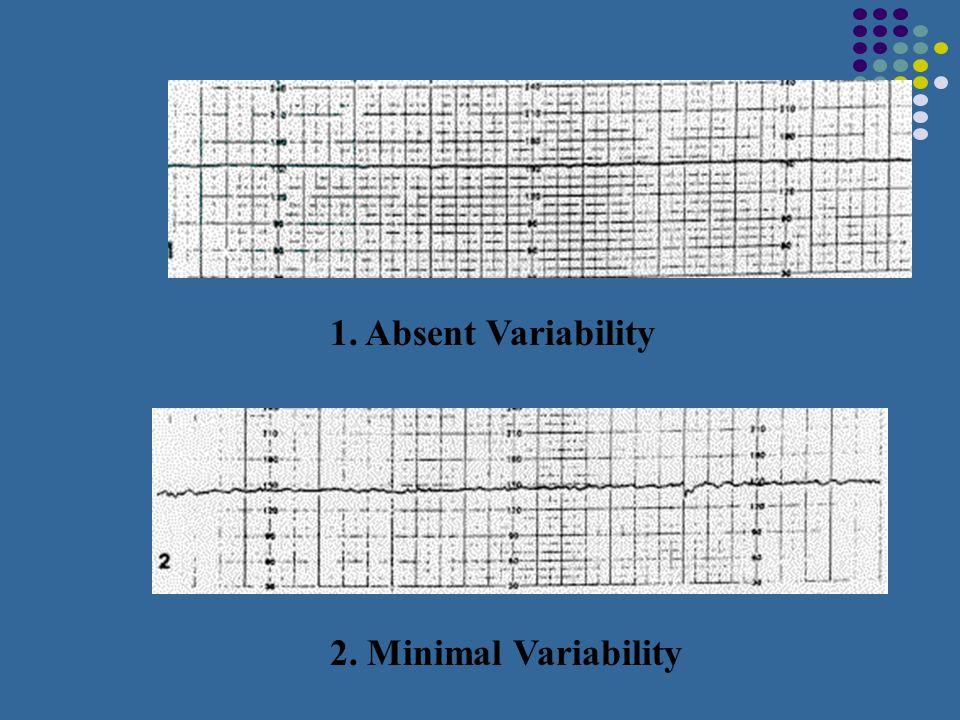 1. Absent Variability 2. Minimal Variability