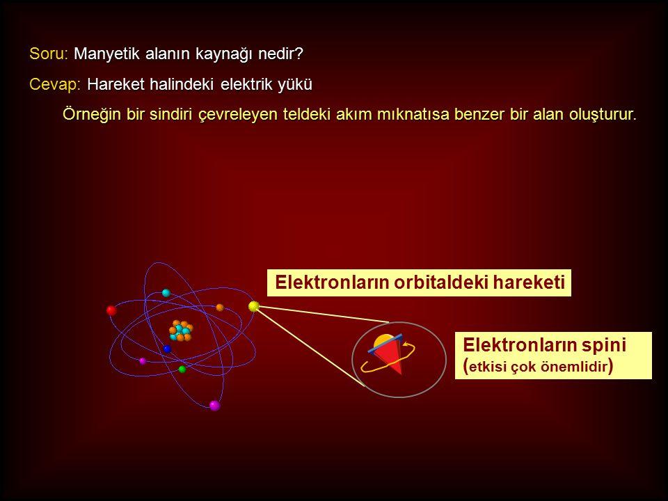 Elektronların orbitaldeki hareketi