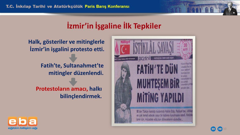 İzmir'in İşgaline İlk Tepkiler