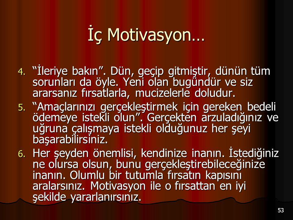 İç Motivasyon…