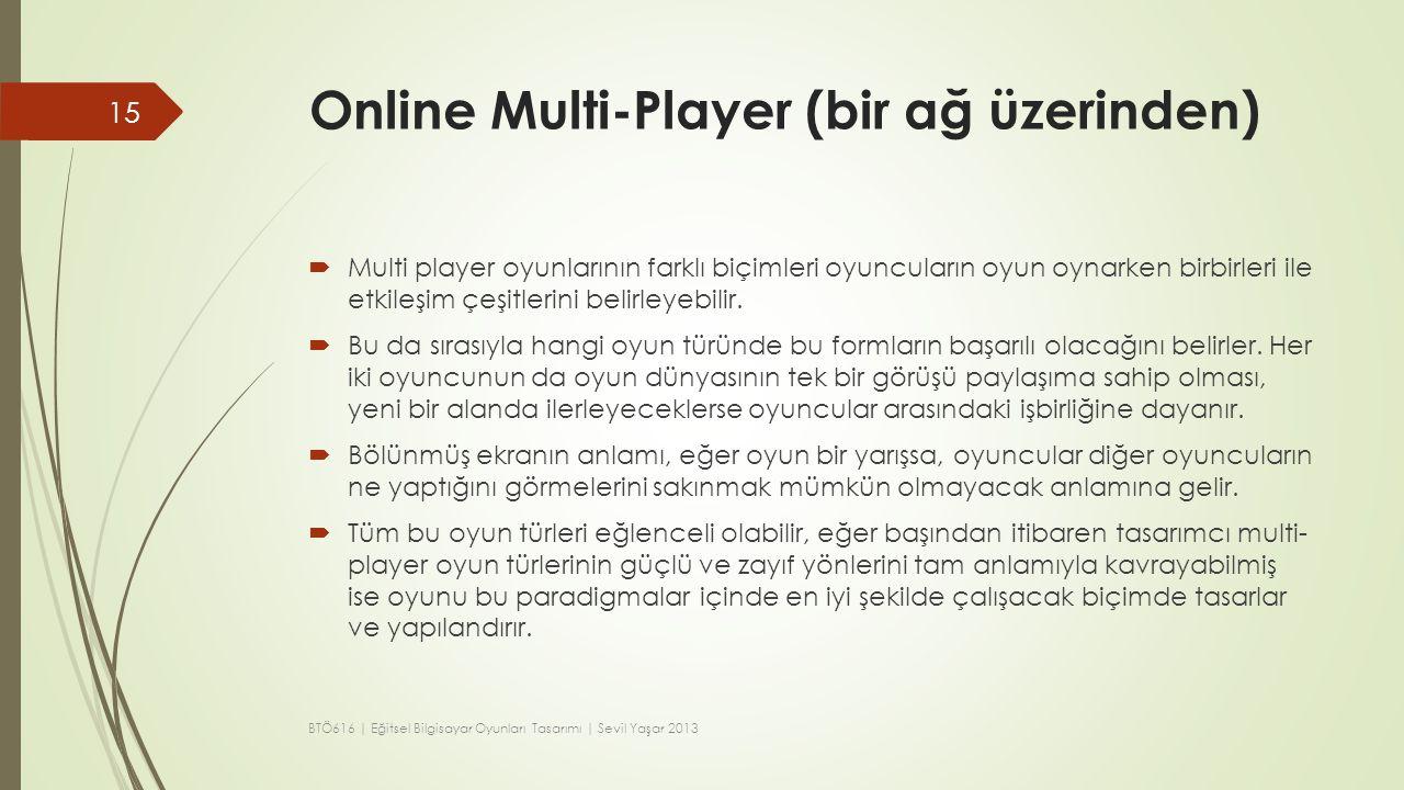 Online Multi-Player (bir ağ üzerinden)