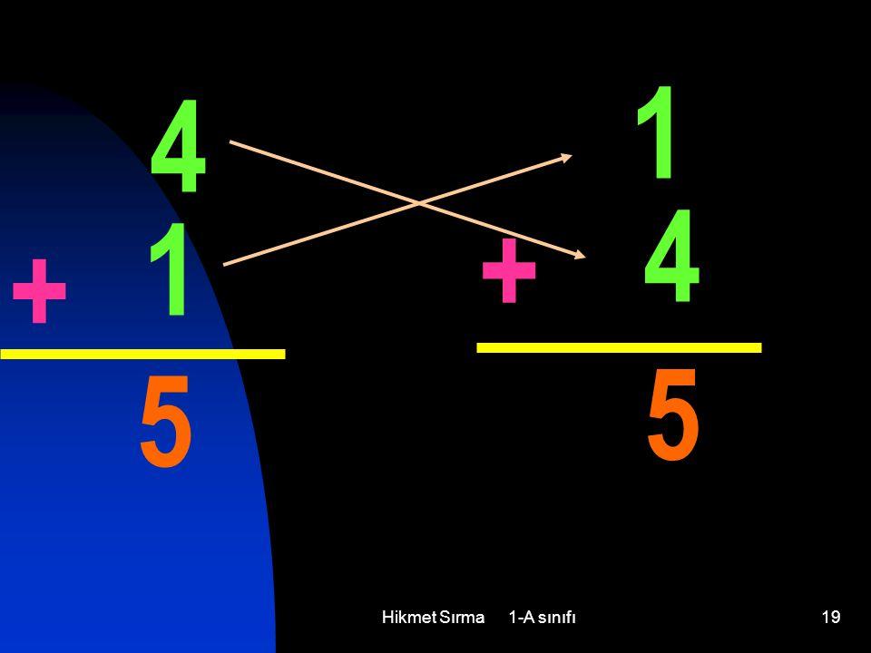 1 4 4 1 + + 5 5 Hikmet Sırma 1-A sınıfı