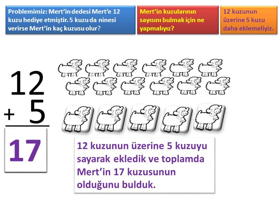 Problemimiz: Mert'in dedesi Mert'e 12 kuzu hediye etmiştir