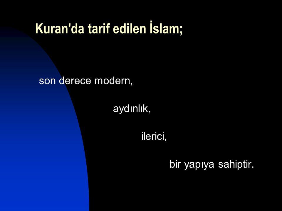 Kuran da tarif edilen İslam;