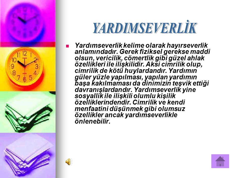 YARDIMSEVERLİK