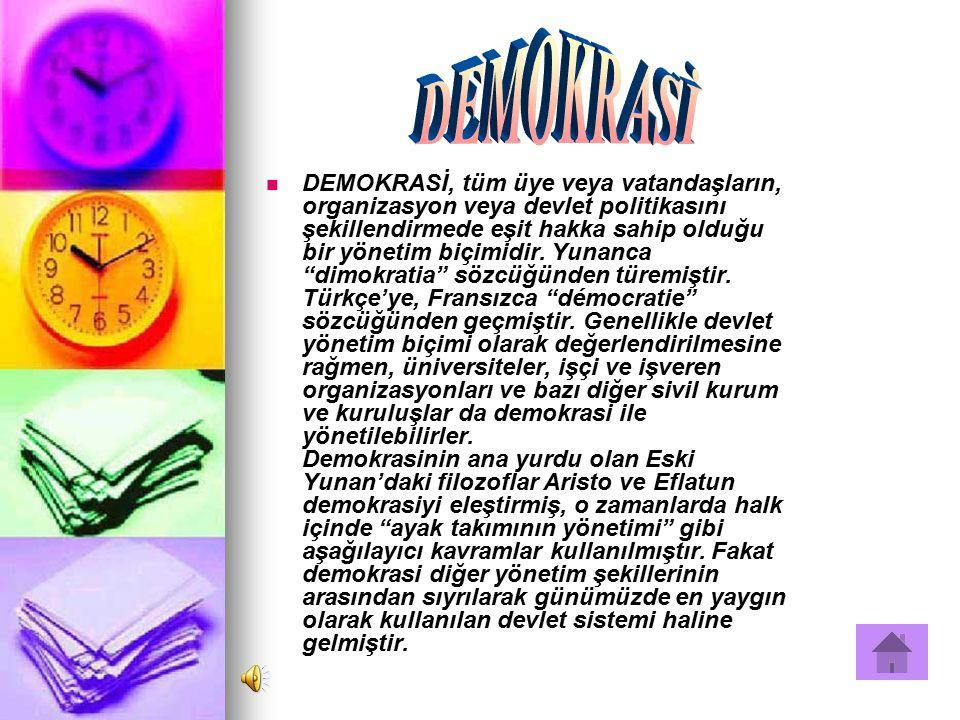 DEMOKRASİ