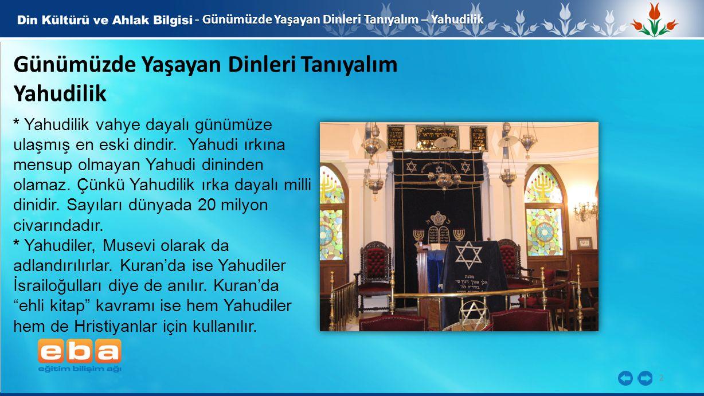 Günümüzde Yaşayan Dinleri Tanıyalım Yahudilik