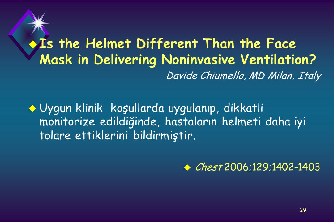 Is the Helmet Different Than the Face Mask in Delivering Noninvasive Ventilation