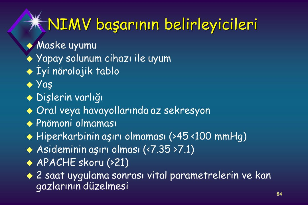 NIMV başarının belirleyicileri