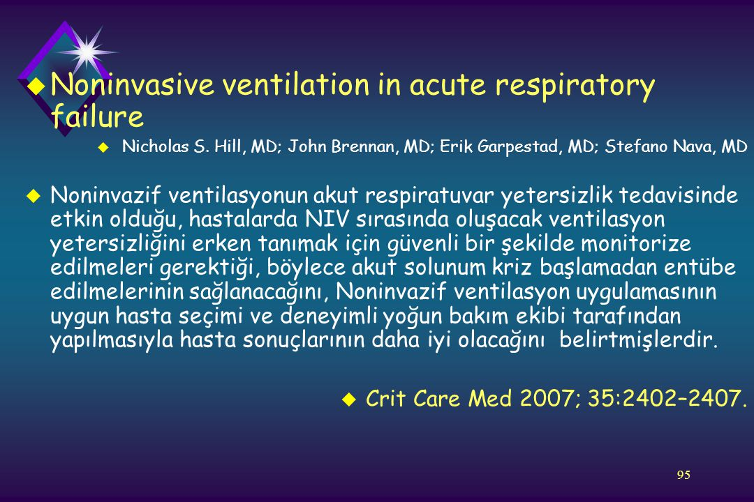 Noninvasive ventilation in acute respiratory failure
