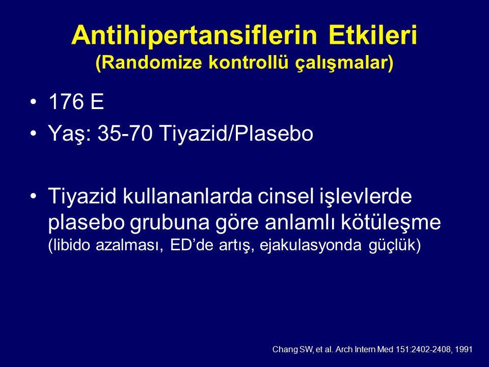 Antihipertansiflerin Etkileri (Randomize kontrollü çalışmalar)