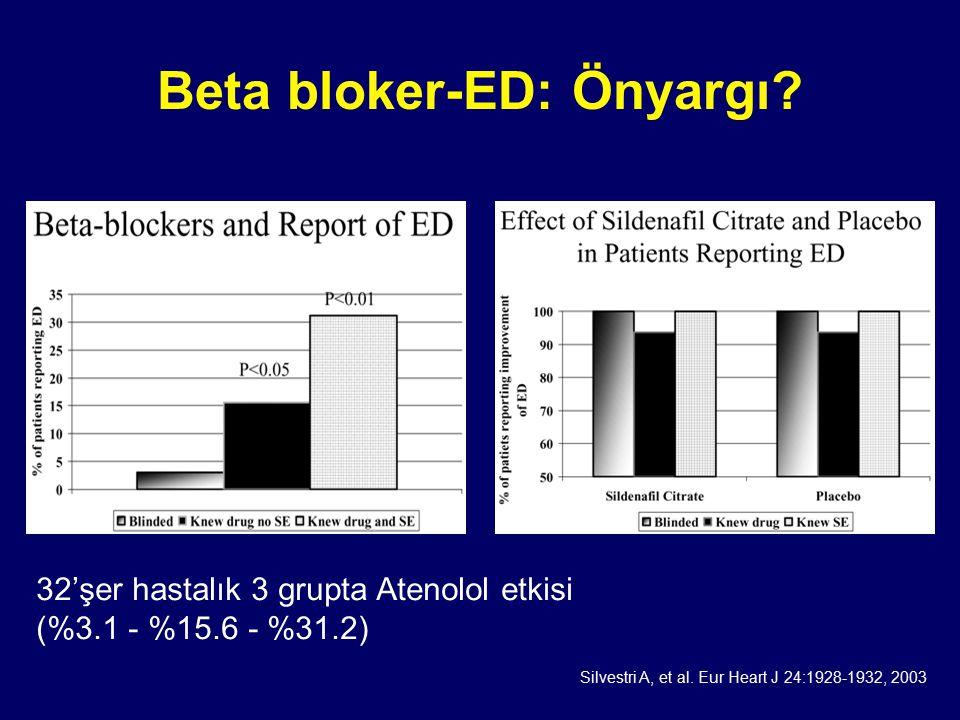 Beta bloker-ED: Önyargı