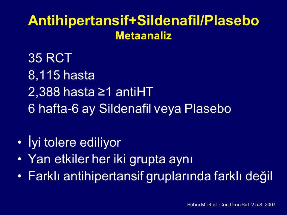 Antihipertansif+Sildenafil/Plasebo Metaanaliz