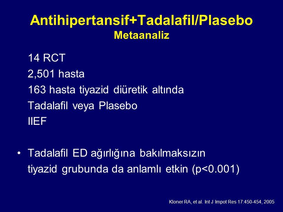 Antihipertansif+Tadalafil/Plasebo Metaanaliz