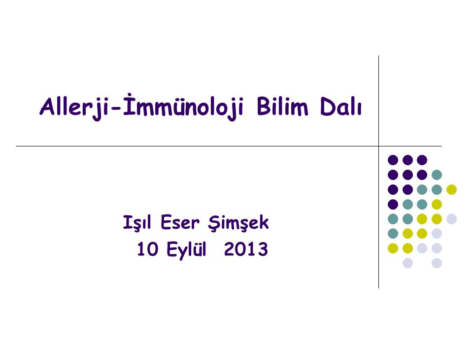 Allerji-İmmünoloji Bilim Dalı