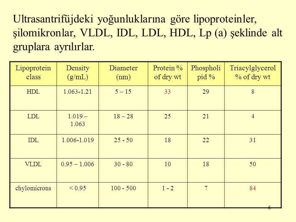 Triacylglycerol % of dry wt
