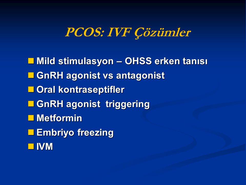 PCOS: IVF Çözümler Mild stimulasyon – OHSS erken tanısı