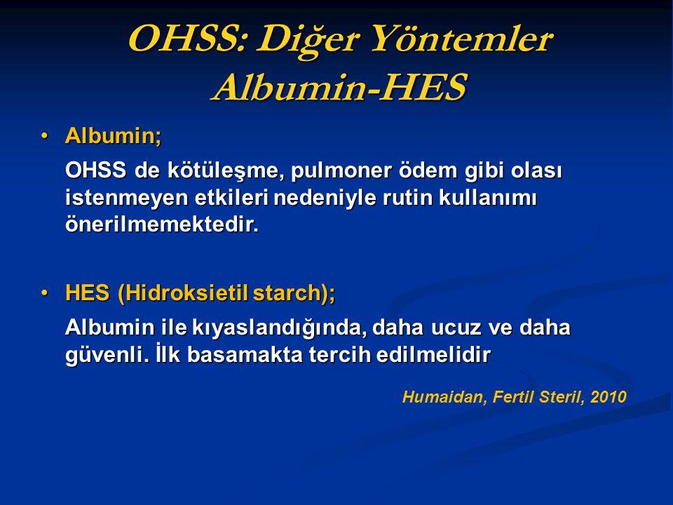 OHSS: Diğer Yöntemler Albumin-HES