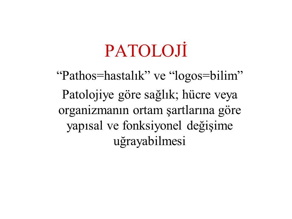 Pathos=hastalık ve logos=bilim