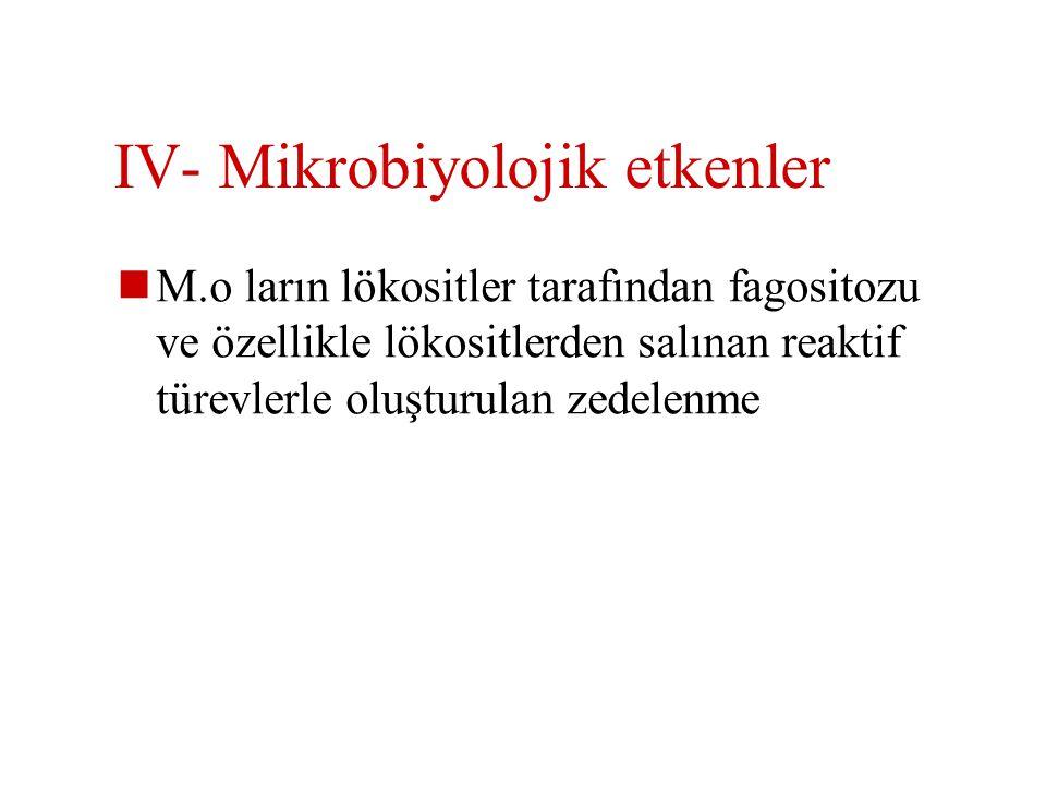 IV- Mikrobiyolojik etkenler