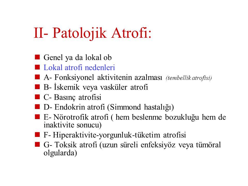 II- Patolojik Atrofi: Genel ya da lokal ob Lokal atrofi nedenleri